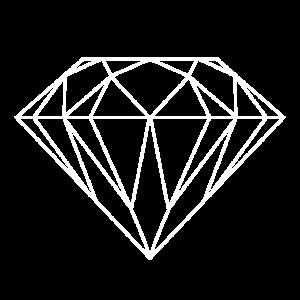 Diamant in weiß