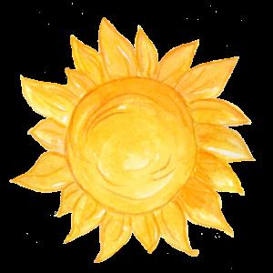 Leuchtende Sonne