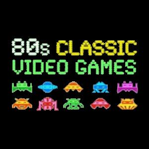 80er Jahre klassische Videospiele