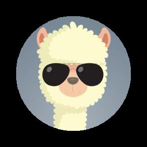 Alpaka Sonnenbrille Tier
