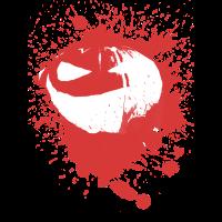 Halloween blutig Gesicht Kuerbis Geschenkidee