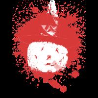 Halloween blutig Gesicht Kuerbis Hexe Geschenkidee