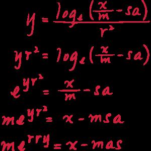 xmas Gleichung Weihnachten