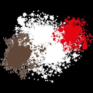 Braun-Weiß-Rot