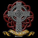 Nordic - Keltisches Kreuz mit Knoten - farbig