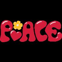 Flower Power Peacezeichen 70er Jahre Peace Frieden