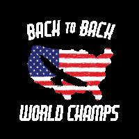 USA Back to Back Weltmeisterschaften Eagle Soaring America