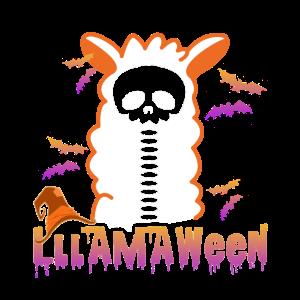 Lama-lustiges Halloween-Hemd