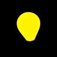 Glühlampe, Glühbirne (Vektor)