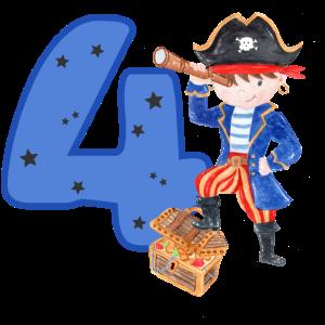 4 Jahre Geburtstag Kind Pirat Junge Schatzsuche