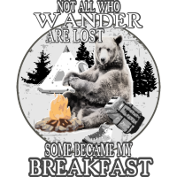 Not all who wander are lost camping bear gift idea