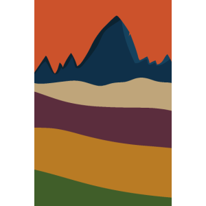 Berge und Wälder im Herbst