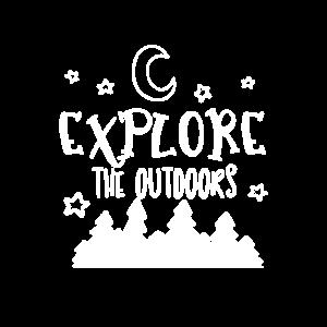 Erforsche die Natur Umwelt Wald Abenteuer Campen