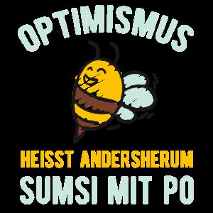 Lustiger Spruch optimismus heisst rückwärts