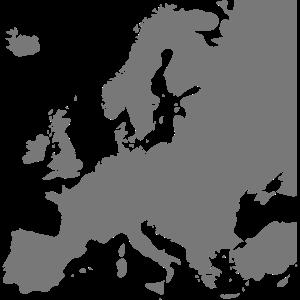 Europe. Europa, Karte ohne Schriftzug