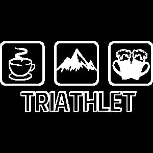 Triathlet Berge Bier