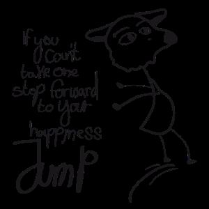 Sei glücklich und spring