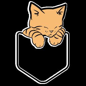 Taschen Katze Süß Pocket