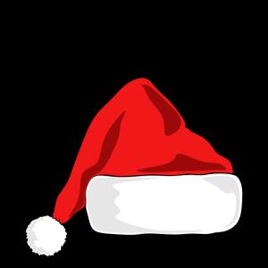 hohoho Schriftzug mit Weihnachtsmannmuetze