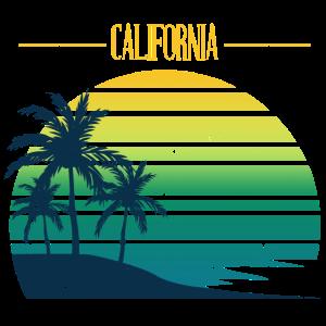 Kalifornien Sommer Surfen Strand Palmen USA bunt
