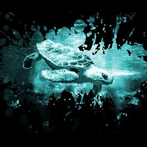 Schildkröte Landschildkröte Aquarell Geschenk