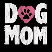 Dog Mom Hunde Mama Hunde Liebe Pfote Herz Geschenk