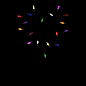 Lichterketten Herz Bild Design Geschenk