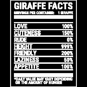 Giraffe Nährwerte Nettes Giraffen-Liebhaber-T-Shirt