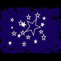 Sterne im blauen Himmel
