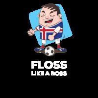 Island Fußball Floss wie ein Boss Fußball