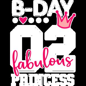 2. Geburtstag Nummer 02 Prinzessin