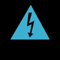 elektrisch geladen blau