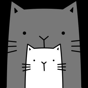 zwei Katzen I große und kleine Katze Geschenk