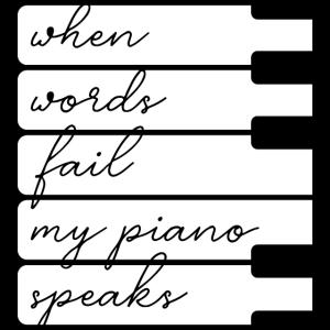 Klavier Klavierspieler Pianist Piano Wort Geschenk