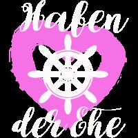 Hafen der Ehe pink Herz Braut Junggesellin Idee