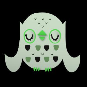 Eule Abstrakt Grün