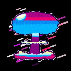 Explosion nuklear 80er Retro Violett