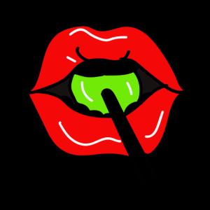 Lollipop und Lippen