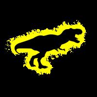 Silhouette Dino Gelb und Schwarz Umriss