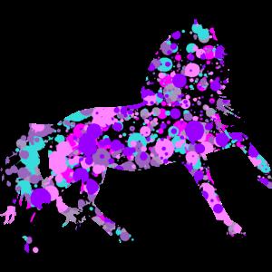 Pferd klecks stehend schwarz