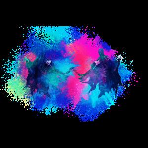 Geist Geister farbenfroh