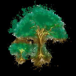 Clip Art Baum hell glühend
