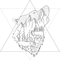 Wolf - Mountain - Forest