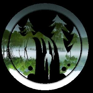 Wald Spiegelung Doppelbelichtung