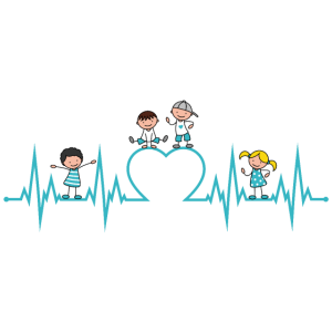 Herzschlag Herz Kinder Liebe Erzieher Beruf türkis
