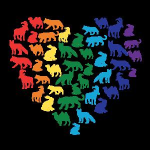 Tierliebe - Regenbogenherz