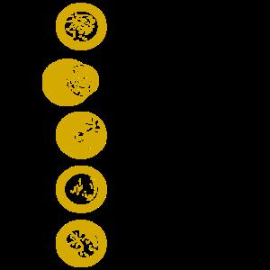 Kreise gelb