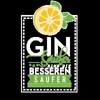 Gin Trinker, Geschenk T-Shirt, Sprüche, lustig,