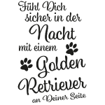 GOLDEN RETRIEVER - Sicher in der Nacht - Black