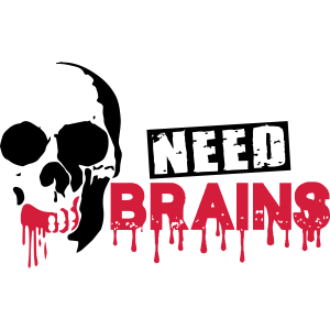 need brains zombie